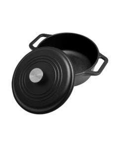 Olla esmaltada  de 4 litros, Victoria, 34917, Color negro