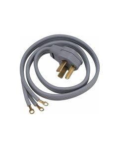 Cable universal de alimentación de corriente 220V para secadoras y estufas eléctricas, 4' de largo.