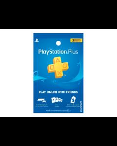 Tarjeta PlayStation Plus de 3 Meses