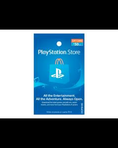 Tarjeta PlayStation Network de $50