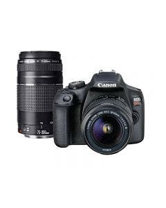 Cámara EOS Rebel T7 Premium Kit de 24.1 MP, sensor APS-C. Incluye lentes EF-S 18-55MM Y 75-300mm