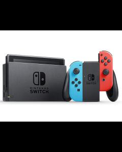 Consola Nintendo Switch + Control Joy-Con Neon Blue y Neon Red con Batería Mejorada
