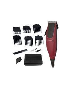 Remington, HC1095, Cortadora de cabello de 12 piezas, color rojo