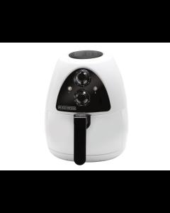 Black+Decker, HF100WD, Freidora de aire de 2.6 litros, color blanco