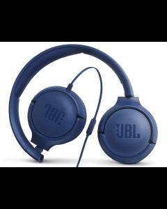 Audífonos JBL T500 On-Ear Alámbricos con Control Remoto/Micrófono de 1 Botón (Azul)