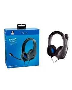 Headset PDP LVL 40 Alámbrico Stereo Gaming para PS4 y PC