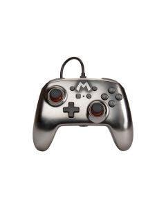 Control Nintendo Switch PowerA Controller Mario Metálico Alámbrico