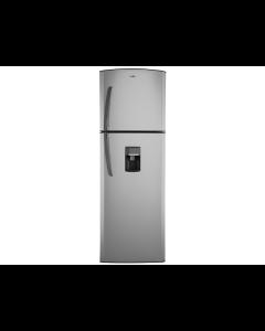 Refrigeradora Top Mount de 11', con dispensador, acero, Mabe, RMA300FJNU.