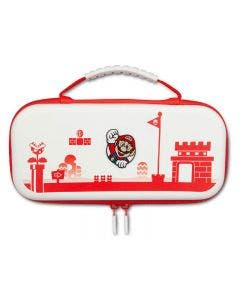 Estuche Nintendo Switch Hori Carry Mario Blanco, Compatible con Nintendo Switch Lite