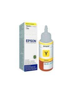 Botella de Tinta Epson T664 420 Color Amarillo para Impresoras