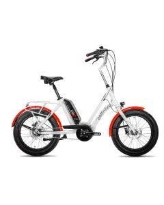 Bicicleta Electrica Corratec Life S Blanco con Rojo