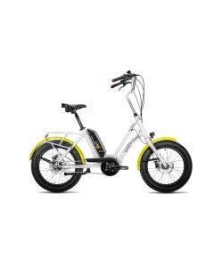 Bicicleta Electrica Corratec Life S Blanco con Amarillo