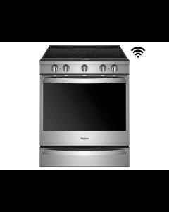 Estufa eléctrica de 30'' con conectividad Wifi y acceso remoto, Whirlpool WEE750H0HZ.