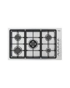 "Cooktop a gas de 36"", acabado en acero, Whirlpool, WP3550S"